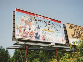 Sterling Renaissance Festival billboard