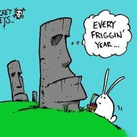 Happy Easter Island