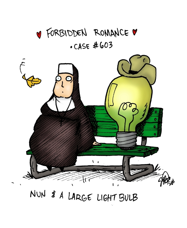 forbidden romance nun+lightbulb color