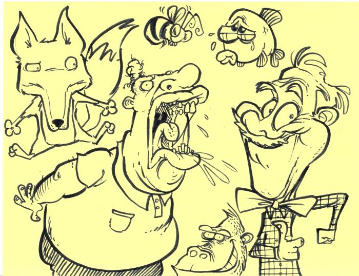 expressive doodles