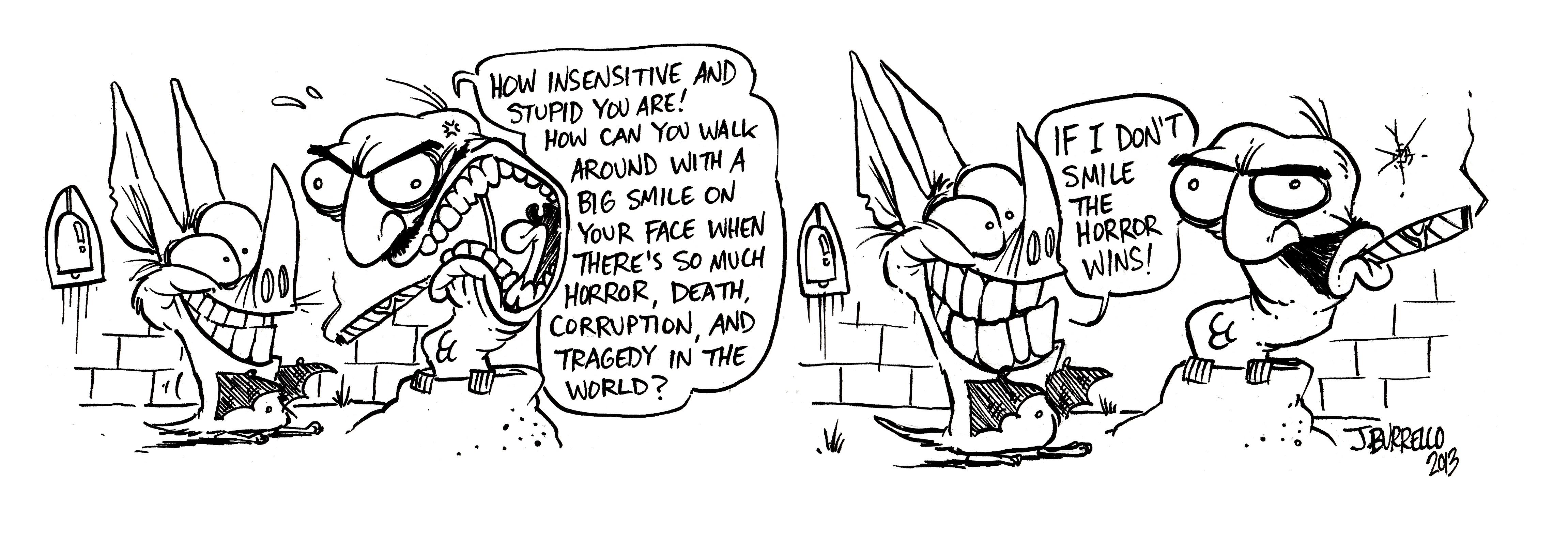 bat and smiles