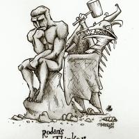 "Rodan's ""The Thinker"""