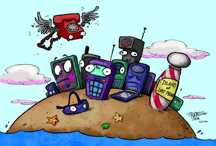 """THE ISLAND OF LOST PHONES"": For an article in the February 2014 issue of 10 Magazine"