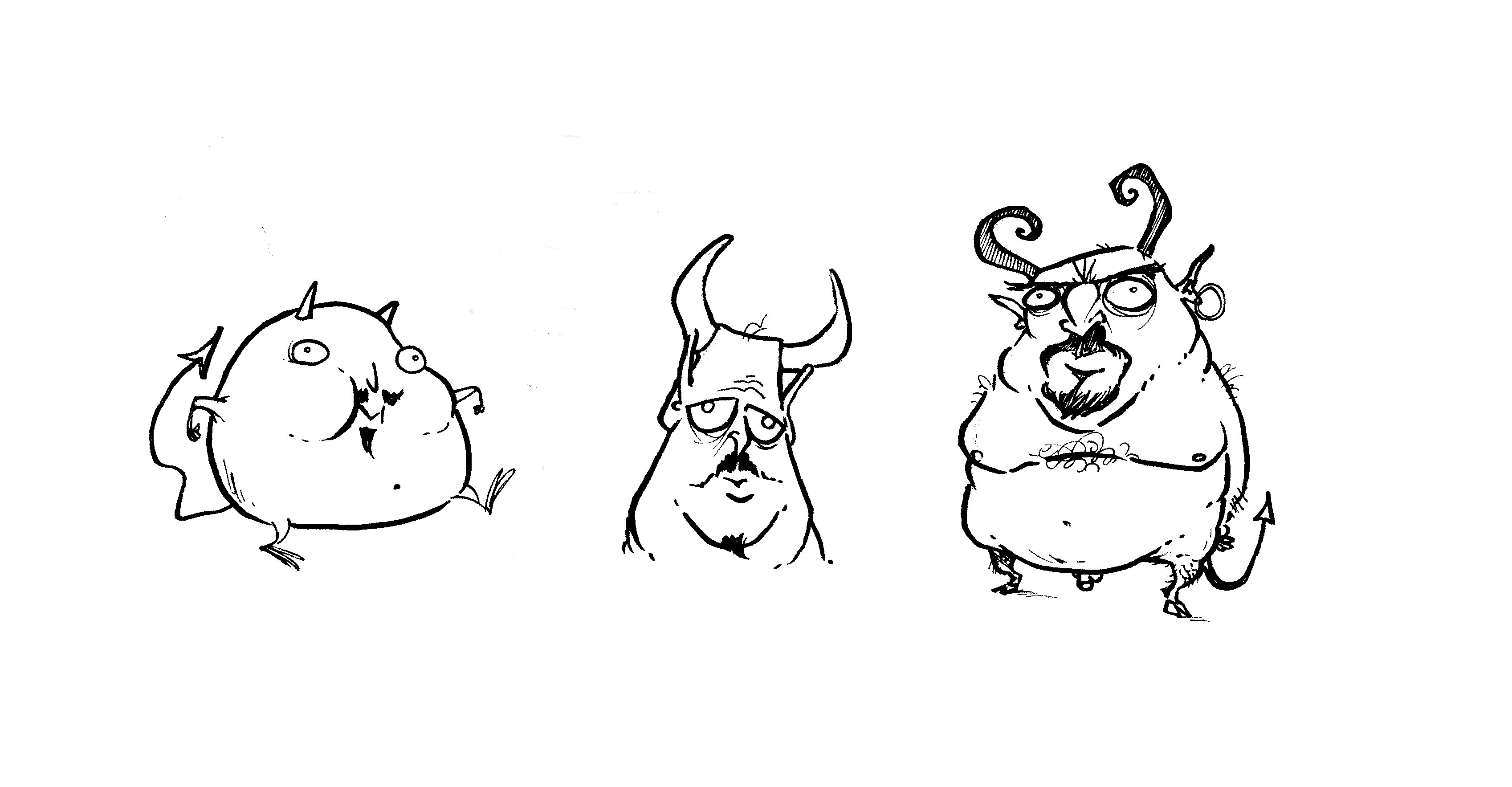 A friend asked to give him ideas for a tattoo design. I think he said something about slovenly demons.