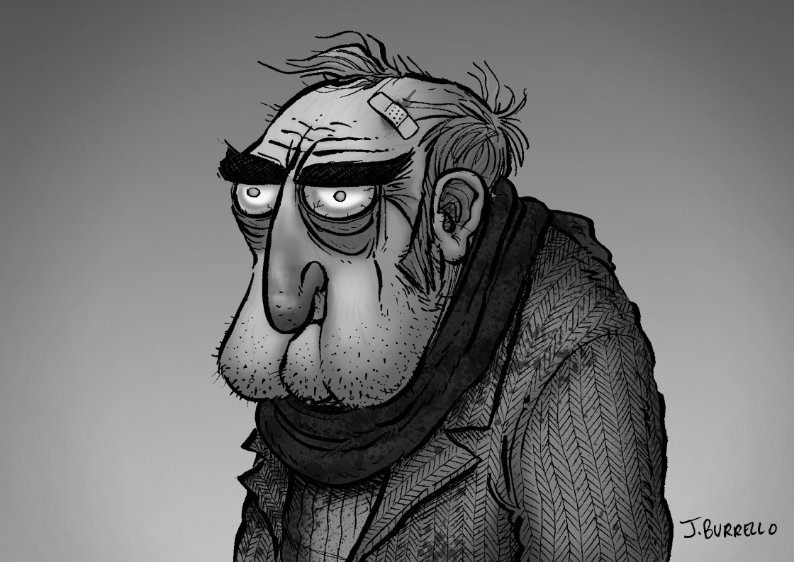 old-man-bw