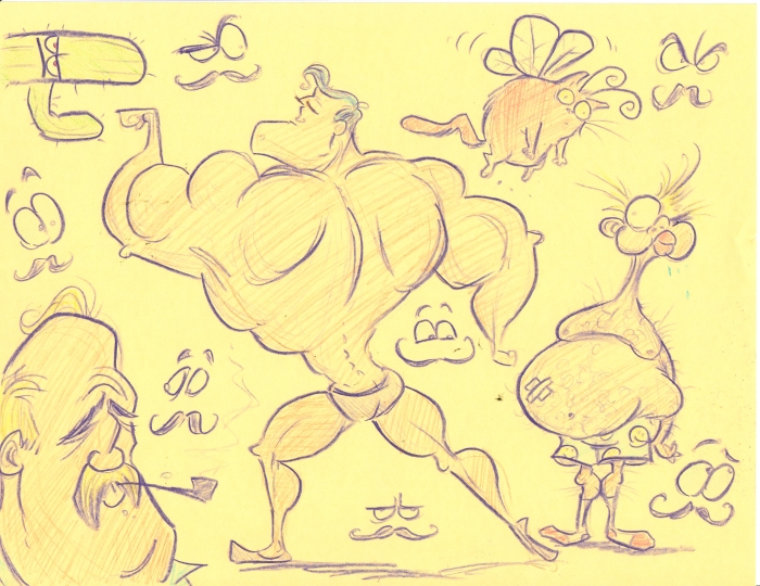 strong man and other doodles