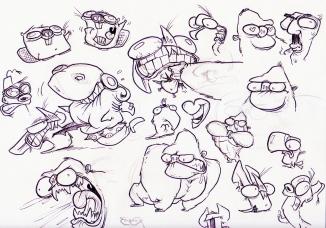 sketch squishy faces