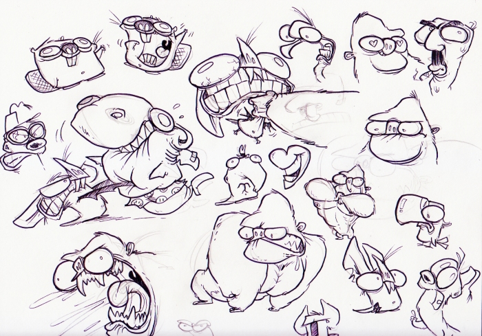 sketch squishy faces